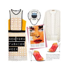 """""""#ootd NYFW"""" by cstarzforhome ❤ liked on Polyvore featuring Fendi, MSGM, ADRIANA DEGREAS and Kate Spade"""