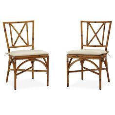 Bimini Jim Dining Chair Pair with Cushion | Overstock.com Shopping - The Best Deals on Dining Chairs