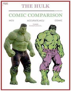 Hulk - - film and comic comparison Marvel Comics, Inhumans Comics, Hq Marvel, Bd Comics, Marvel Heroes, Hulk Comic, Hulk Avengers, Spiderman, Marvel Comic Character