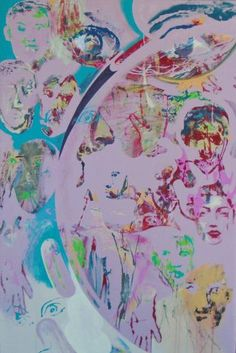 "Saatchi Art Artist Jim Abuan; Painting, ""Once Famous Faces"" #art"