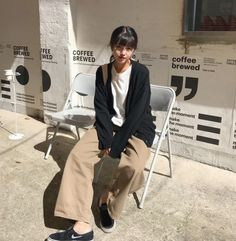romantic date outfit Korean Outfits, Mode Outfits, Fashion Outfits, Korean Clothes, Korean Street Fashion, Asian Fashion, Aesthetic Fashion, Aesthetic Clothes, Beige Aesthetic
