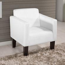 Poltrona Decorativa Cíntia Couro Sintético Branca American Comfort