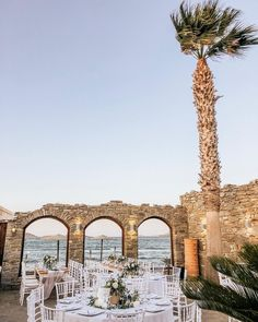 "Maria Sila on Instagram: ""How we love designing  weddings at  unique locations, like this  amazing hotel and amphitheater in Paros ! #greecewedding #paroswedding…"" Greece Wedding, Paros, Our Love, Best Hotels, Weddings, Mansions, House Styles, Unique, Amazing"