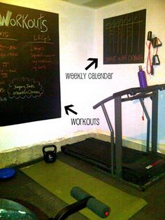 Chalk Board wall - for home gym