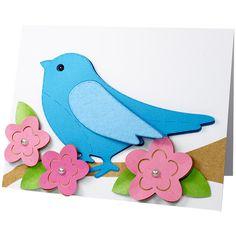 JMRush Designs: Stitched Bird Card