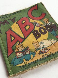 Cloth Children's Book Linen ABC Vintage Saalfield's by GardenBarn