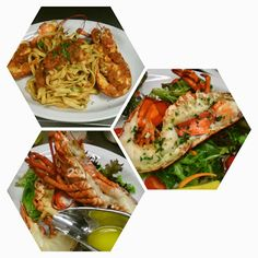 Lobster Diavolo, Chilled Lobster Salad, and Poached Whole Lobster. Lobster Salad, I Love Food, Japchae, Ethnic Recipes, Kitchen, Sign, Google, Cooking, Kitchens