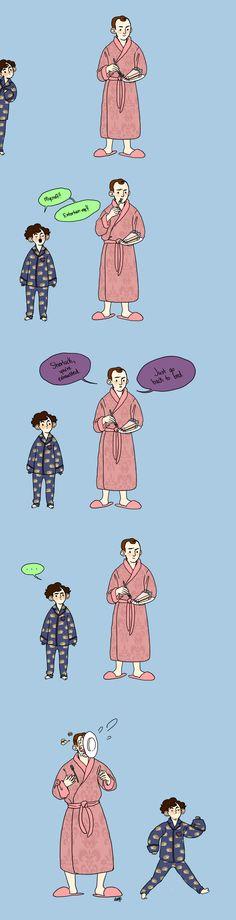 kidlock 1 by Buddenly on deviantART - cute hedgehog pajamas, Sherlock!