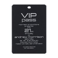 VIP Pass (without Lanyard)  eInvite Party Themed Parties