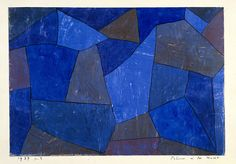 iconoclasticpole:  Paul Klee,Rocks at Night (Felsen in der Nacht), 1939 http://www.guggenheim.org/new-york/collections/collection-online/artwork/2194