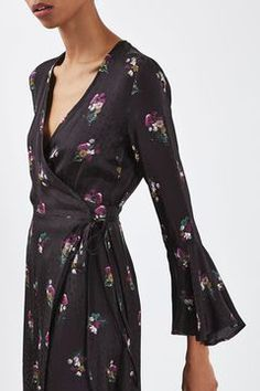 Bouquet Wrap Dress by Boutique