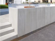 L-TEC system angle, exposed concrete – stone gray - Alles über den Garten Concrete, Balcony Decor, Wood Fence, Exterior Design Backyard, Backyard Retaining Walls, Exterior Design, Exposed Concrete, Outdoor Decor Backyard, Concrete Stone
