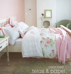 elegant and the sanderson adele bedding range features soft pink rose patterns set against an ivory ground