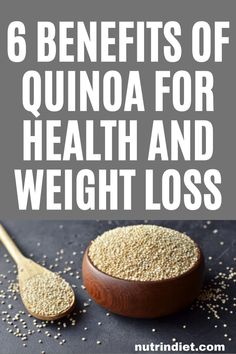Quinoa is one of the most nutrient-rich foods. It helps in general health and is also a strong ally in weight loss. See the benefits of quinoa and get the most out of it. Complete Nutrition, Diet And Nutrition, Healthy Diet Recipes, Healthy Diet Plans, Weight Loss Drinks, Diet Plans To Lose Weight, Food To Gain Muscle, Quinoa Benefits, Clean Eating Grocery List