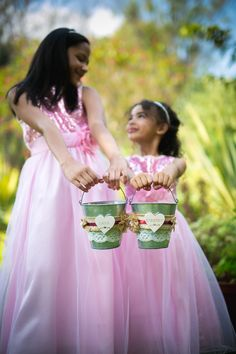 Rustic Flower girl Buckets