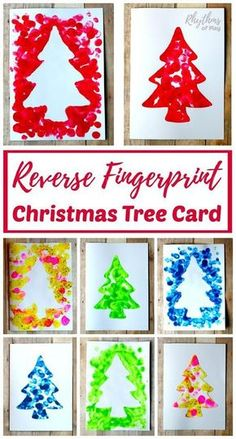 Fingerprint Christmas Tree Cards Kids Can Make! Making a reverse fingerprint Christmas tree card will give you two fingerprint tree cards. A positive and a nega Christmas Tree Cards, Christmas Holidays, Christmas Decorations, Teacher Christmas Card, Reindeer Christmas, Christmas Stockings, Christmas Projects, Holiday Crafts, Diy Christmas Keepsakes