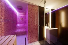 by Junger & Beer www. Build My Own House, My House, Bathroom Bath, Beautiful Bathrooms, Brick, Lights, Traditional, Interior Design, Modern