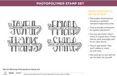 New Stamps and Specials | Denise Foor Studio PA  Stampin' Up!  Banner Blessings