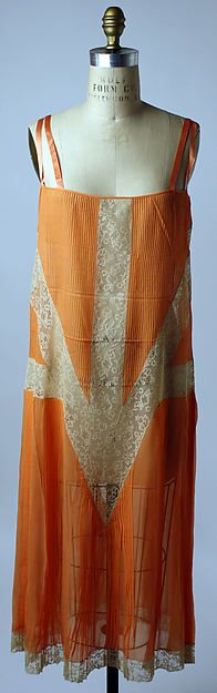 Slip, Design House: Callot Soeurs (French, active 1895–1937) Date: 1927 Culture: French Medium: silk, cotton