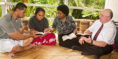Geoffrey and Loraini Jackson witnessing in Fiji