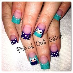 Beautiful Owls - Nail Art Gallery