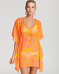 906c50ab5def6 Echo Medallion Print Butterfly Swimsuit Cover Up Women - Bloomingdale s