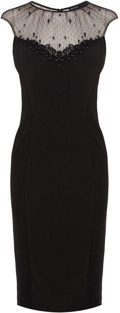 Pin for Later: 30 of the Best Little Black Party Dresses  Karen Millen beaded cocktail dress (£215)