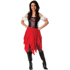 Another great find on Red & Black Pirate Costume - Women Adult Anna Costume, Female Pirate Costume, Adult Costumes, Costumes For Women, Halloween Costumes, Pirate Halloween, Pirate Costumes, Halloween Ideas, Halloween Decorations