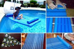 Faire un radeau avec des nouilles de piscine