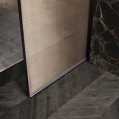 FAVORITE INTERIOR DOORWAYS: #4 - A Velaria golden mesh sliding glass door by Giuseppe Bavuso for Italian manufacturer Rimadesio.