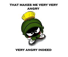 Marvin Martian Angry
