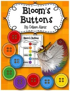 (Partially Editable- You can add your own questions.)Incorporate Bloom's Taxonomy language and questioning in your daily lessons with this set of Bloom's Button Question Cards. Great to use with any fictional read aloud. Have students take a button break. Reading Groups, Reading Skills, Higher Level Questioning, Blooms Taxonomy Questions, Guided Reading Questions, Brain Based Learning, Higher Order Thinking, Deep Thinking, Future Classroom