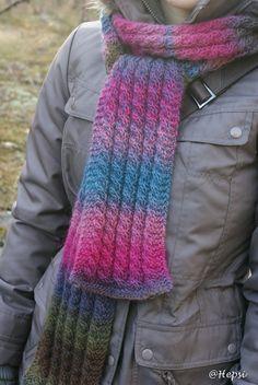 Novita Puro scarf - blue and pink