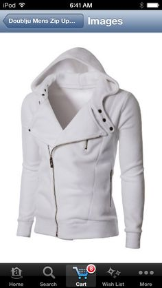 White hoodie with new stylish neck style!