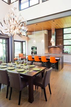 Modern Home Aiming At Converting Traditionalists By David Small Design    Kitchen + Dining