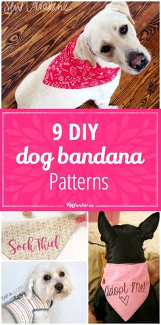 9 DIY Dog Bandana Patterns - Tap the pin for the most adorable pawtastic fur baby apparel! You'll love the dog clothes and cat clothes!