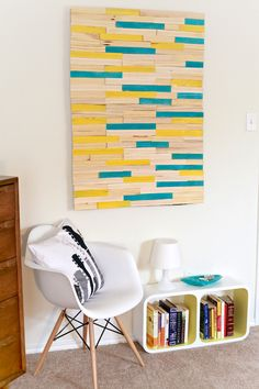 This advanced DIY wall art project will look great in any room of your home. Spend your next rainy weekend crafting away at your new piece of art.
