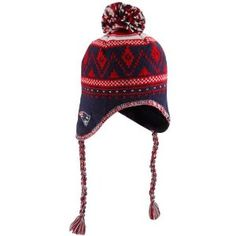 3a01a45b33e Patriots Braided Pom Knit Hat. I lived in this all winter.