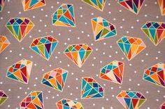 Bio-Stoffe - Bio Jersey Diamanten - ein Designerstück von liebelle11 bei DaWanda