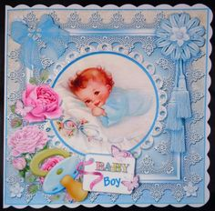 New Baby Card Front 7x7 Boy by Linda Short