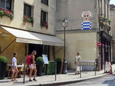 Picasso Pixel Portrait by Space Invader