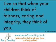 Fairness, caring and integrity