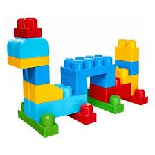 80-Piece Big Building Toys Bag Classic 80 Pcs Boys Girls Kids 1 2 3 4 5 Year Old