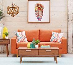 sala decorada com laranja1