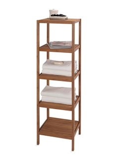 Creative Bath Ecostyles 5 Shelf Bamboo Tower