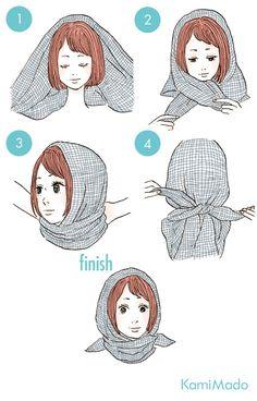 女優気分に♪スカーフを使ったヘアアレンジ8【イラスト付き】