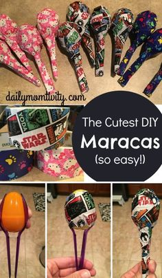 DIY maracas for kids that are so easy to make! Perfect idea for a school store dailymomtivity.com