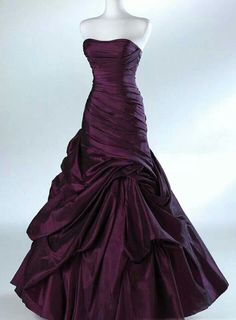 Dark purple wedding dress; I love the color, and I love the dress, just maybe not together.