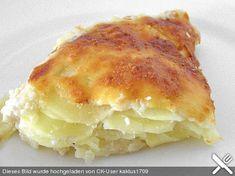 Einfacher Kartoffelgratin