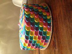Cadence's rainbow petal cake!